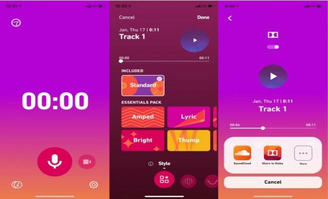 Dolby разработват приложение за запис на музика