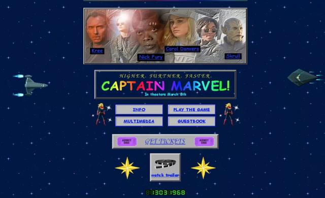 Marvel пусна носталгичен сайт промотиращ Captain Marvel