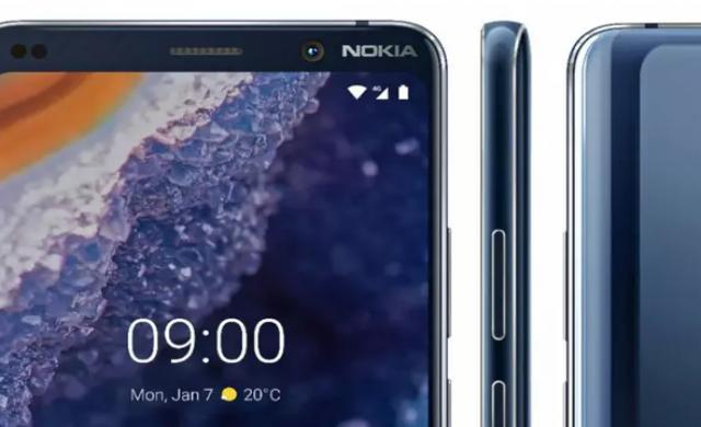 Официално изображение на петкамерния Nokia 9 PureView
