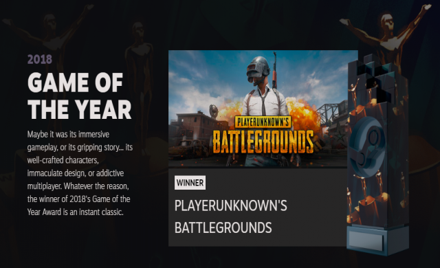 Ясни са победителите от наградите на Steam за 2018