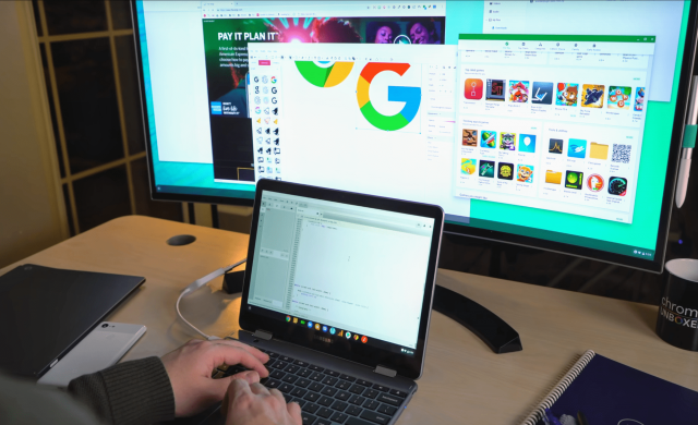 Chrome OS работи по Virtual desktop