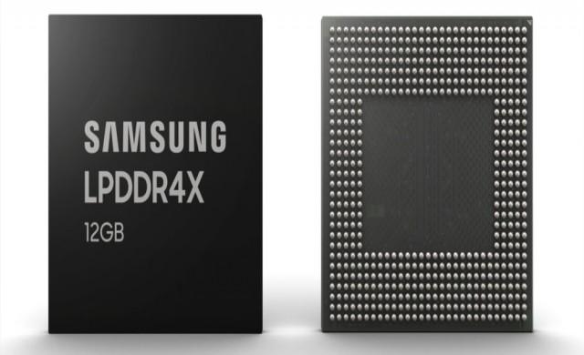Samsung започва производството на 12GB RAM чипове за смартфон