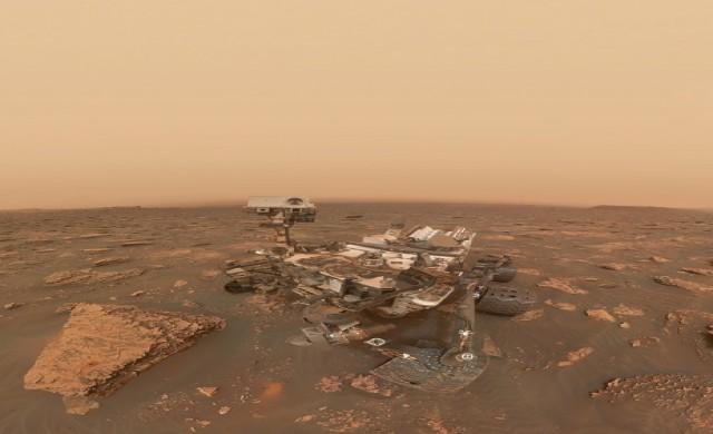 Curiosity си направи селфи насред пясъчна буря на Марс