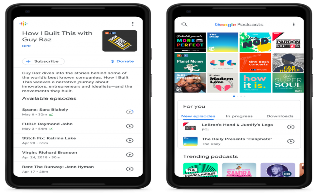 Google пуска Android приложение за подкастове