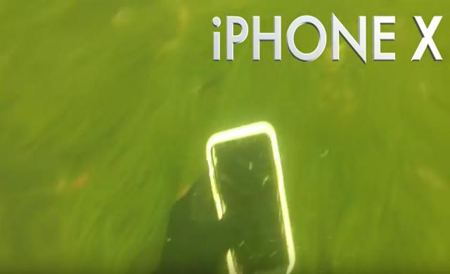 След две седмици на дъното на река iPhone X работи