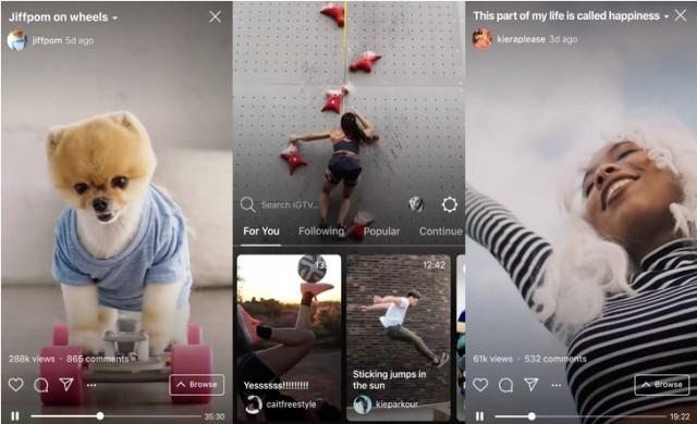 Instagram с опция за споделяне на дълги видеоклипове – IGTV