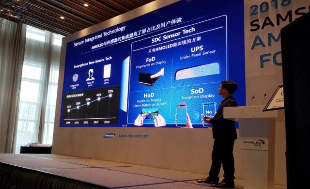 Samsung ще вкара предната камера в дисплея