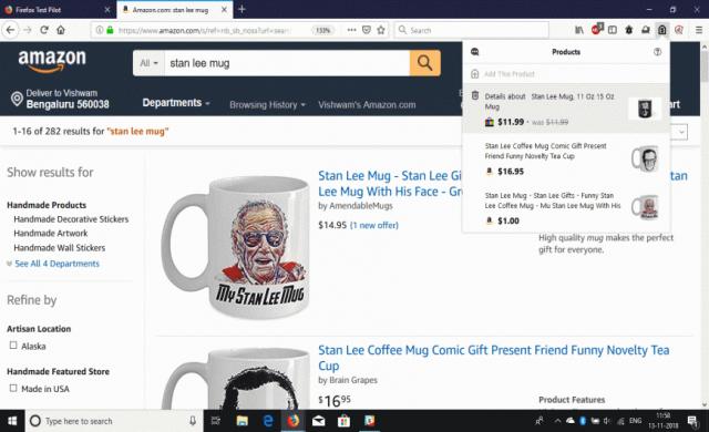 Firefox ще следи автоматично цените в онлайн магазините