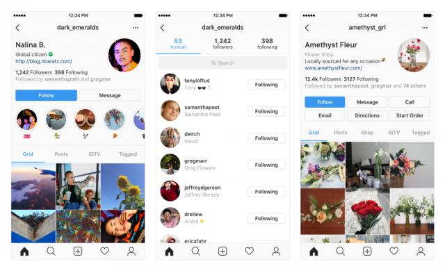 Instagram тества обновление на профилните страници