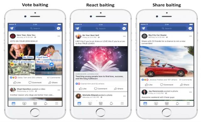 Facebook погва click-bait постовете
