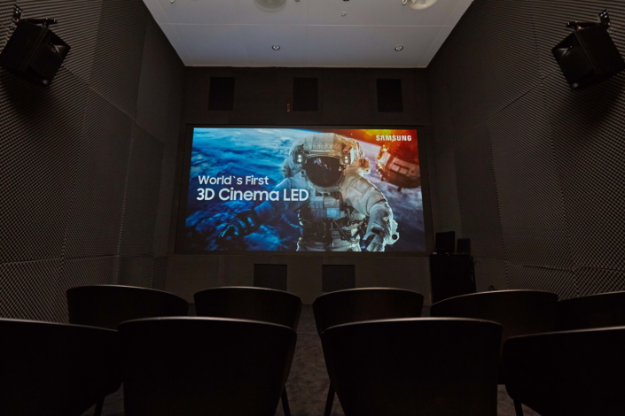 Samsung представи първия си 3D Cinema LED екран