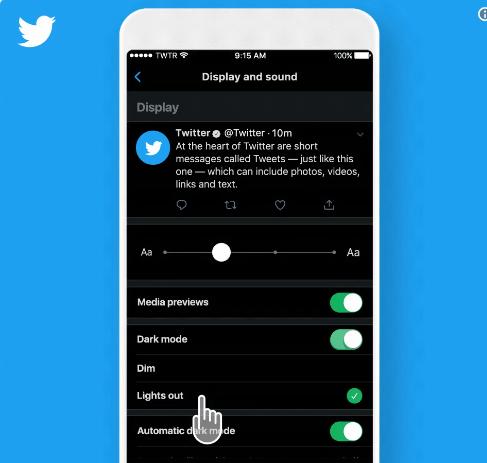 Twitter с нов тъмен режим за iPhone