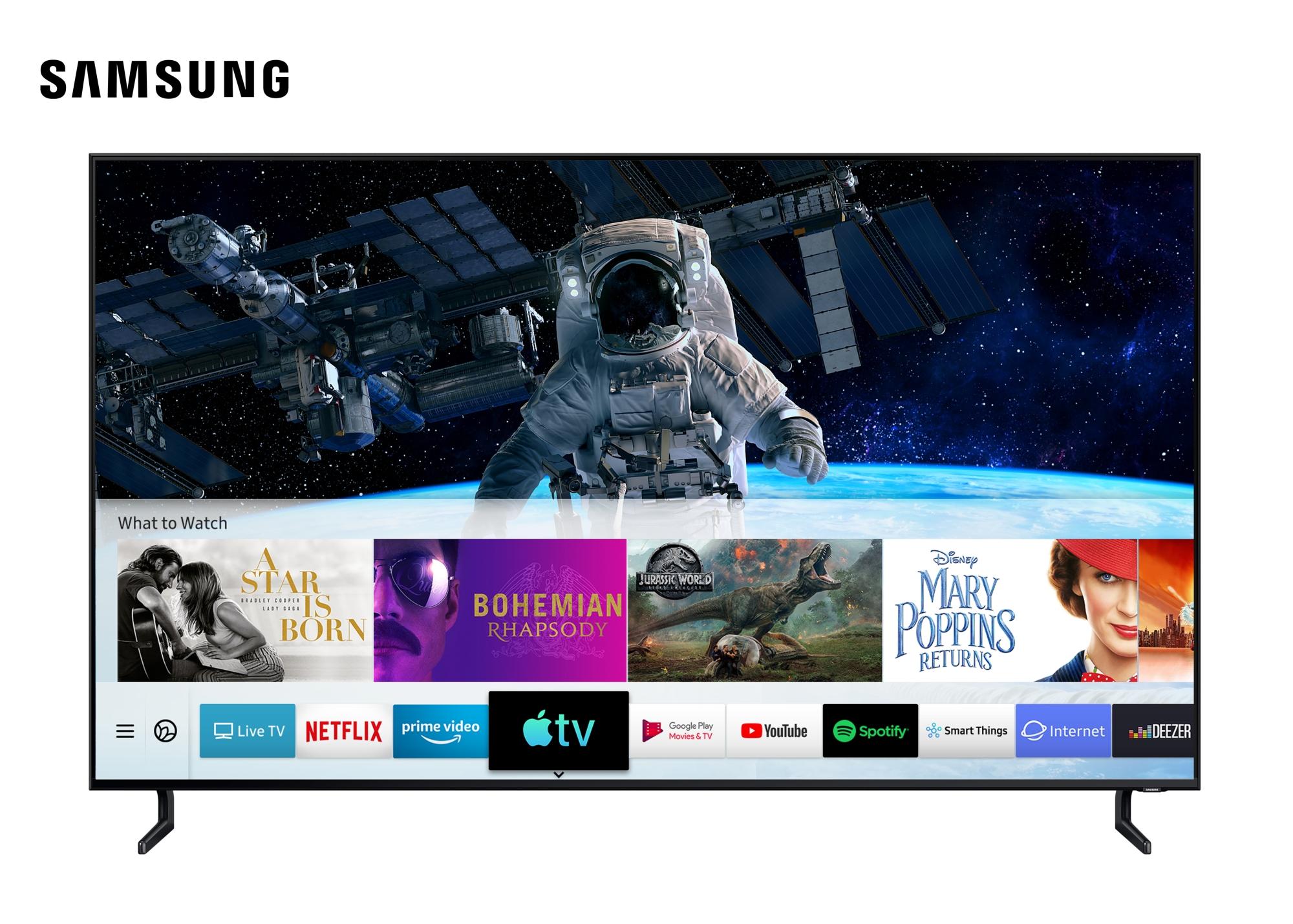 Samsung става първият ТВ производител, който предлага приложенията Apple TV и AirPlay 2