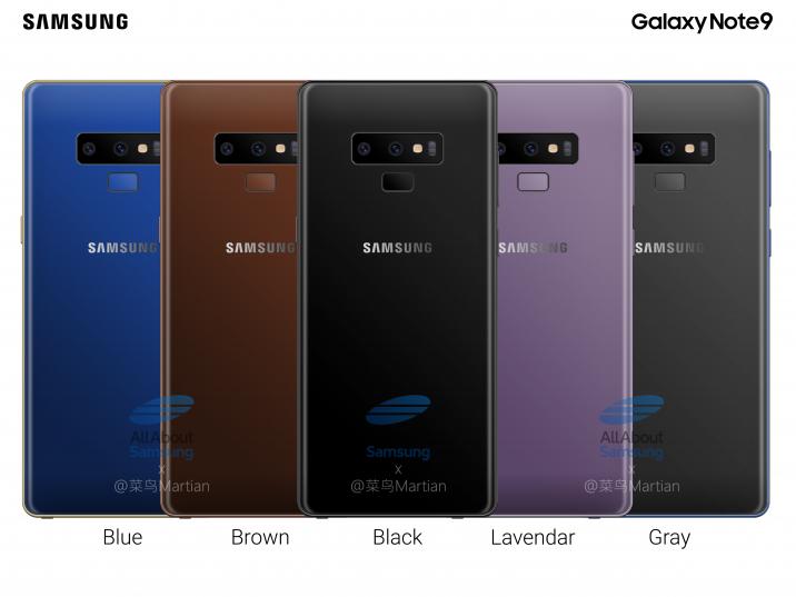 Galaxy Note 9 може да има 4000 mAh батерия и версия в кафяво