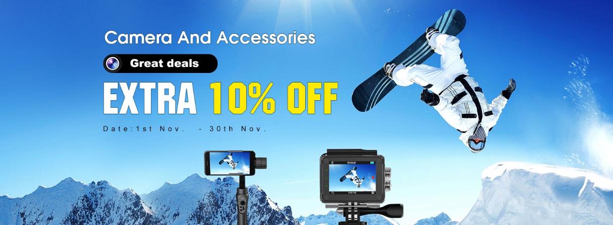 Tomtop предлага фотографска техника със специална 10% отстъпка