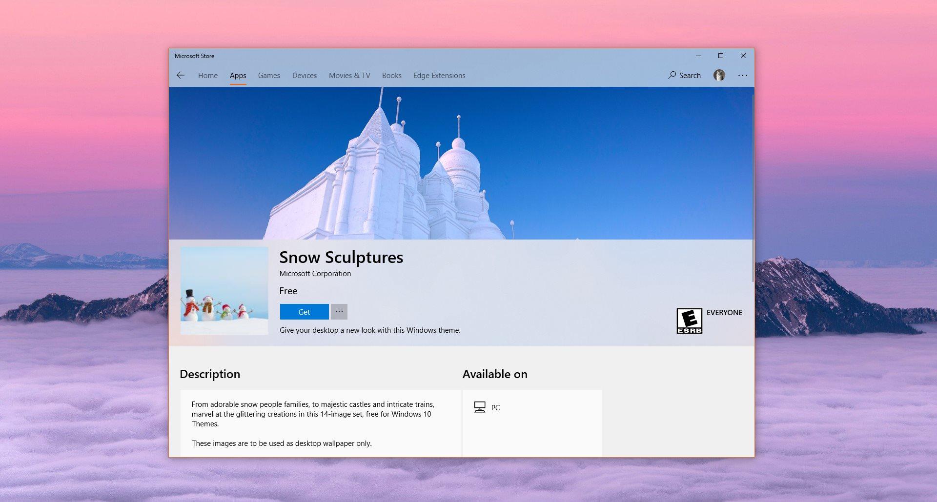 Microsoft с няколко нови безплатни пакета тапети за Windows 10